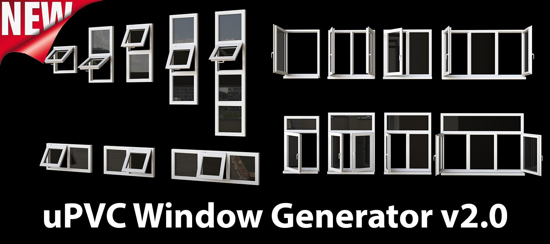 1500×500 uPVC Window Generator   ArchvizTools